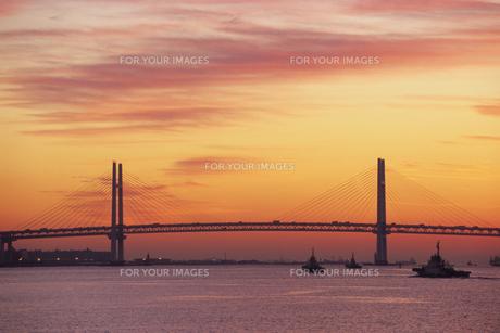 暁のベイブリッジ、Akatsuki of Bay Bridgeの素材 [FYI00024651]