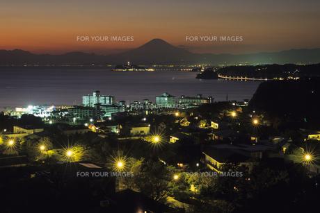 湘南・披露山の夕景、Sunset of Shonan-Hiroyamaの素材 [FYI00024659]