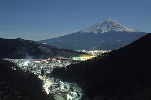 月光の富士、Moonlight Fujiの写真素材 [FYI00024674]
