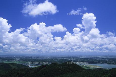 夏雲と青空の素材 [FYI00024705]