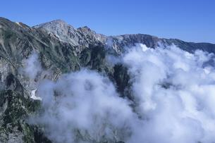 白馬連峰青い空と白い雲、Hakuba mountain range blue sky and white clouds,の素材 [FYI00024717]
