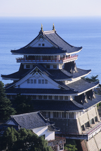 熱海城と海、Atami Castle and the sea,の素材 [FYI00024746]