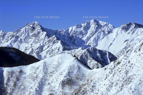 白銀の穂高連峰、Silver of Hotaka mountain range,の素材 [FYI00024780]