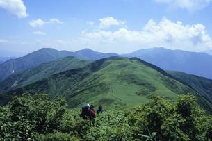 夏の上越稜線、Joetsu ridge line of the summer,.の素材 [FYI00024811]