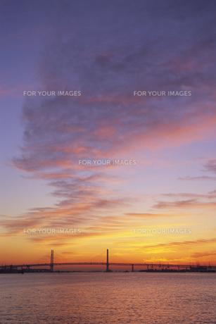 暁雲とベイブリッジ、Gyoun and Bay Bridgeの素材 [FYI00024818]