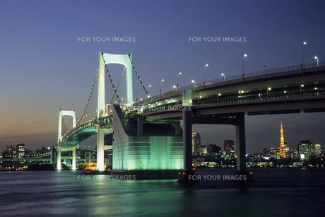 お台場夜景、Odaiba night viewの素材 [FYI00024830]