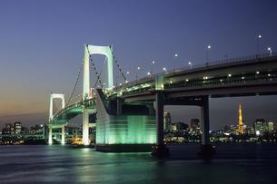 お台場夜景、Odaiba night viewの写真素材 [FYI00024830]