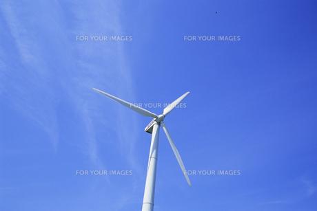 青空に白きプロペラ、White and propeller in blue skyの素材 [FYI00024862]