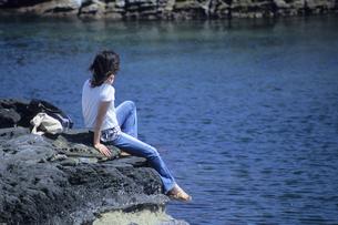 海辺の美女、Seaside beautyの素材 [FYI00024864]