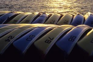 仕事を終えたボートたち、Boat who finished the workの素材 [FYI00024879]