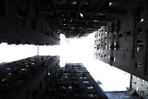下から見上げたビル群の素材 [FYI00024968]
