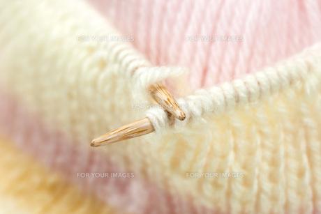 毛糸の編み物の素材 [FYI00025238]