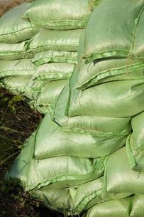 災害予防の土嚢の写真素材 [FYI00025328]
