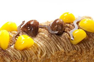 マロンケーキの写真素材 [FYI00025575]