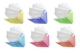 書類ケースと白紙の素材 [FYI00025586]