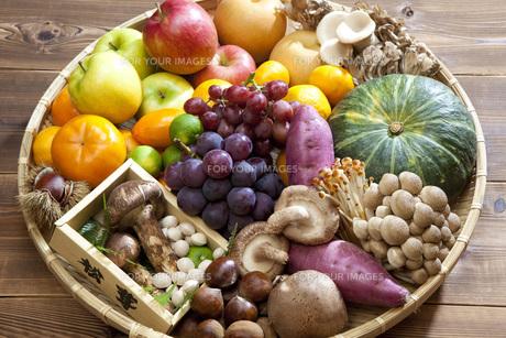 秋の食材集合の写真素材 [FYI00025610]