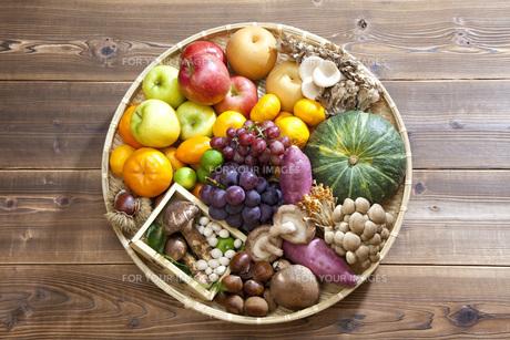 秋の食材集合の写真素材 [FYI00025612]