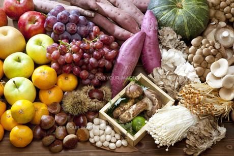 秋の食材集合の写真素材 [FYI00025623]