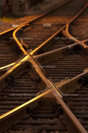路面電車の線路の写真素材 [FYI00025700]