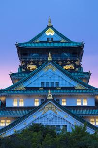 大阪城天守閣の夜景の素材 [FYI00025769]