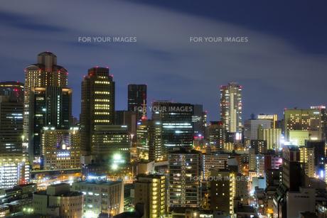 大阪北区の都会の夜景の素材 [FYI00025963]
