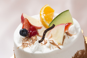 フルーツシフォンケーキの写真素材 [FYI00026107]