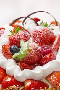 イチゴケーキのアップの写真素材 [FYI00026115]