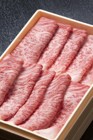 霜降り牛肉の写真素材 [FYI00026270]