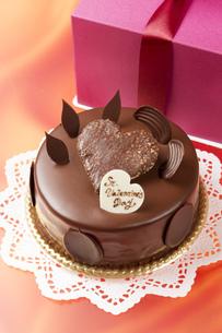 バレンタインチョコケーキの写真素材 [FYI00026279]