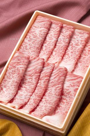 霜降り牛肉の写真素材 [FYI00026289]
