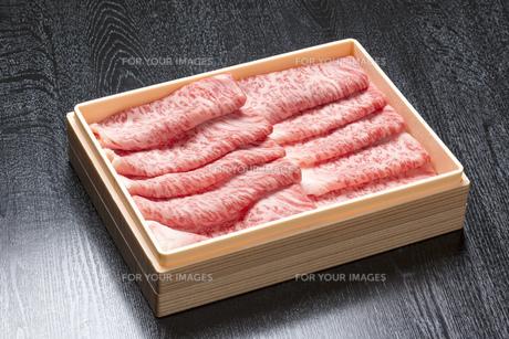 霜降り牛肉の写真素材 [FYI00026294]