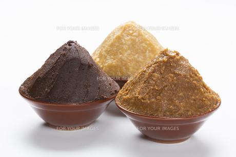 米味噌と大豆味噌の写真素材 [FYI00026339]