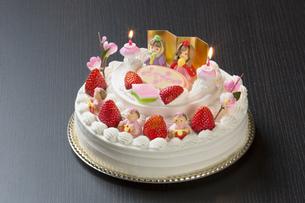 ひな祭りケーキの写真素材 [FYI00026380]