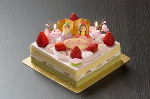 ひな祭りケーキの写真素材 [FYI00026448]