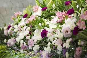 お葬式の献花の写真素材 [FYI00026775]