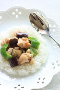 野菜炒めの中華丼の写真素材 [FYI00026873]