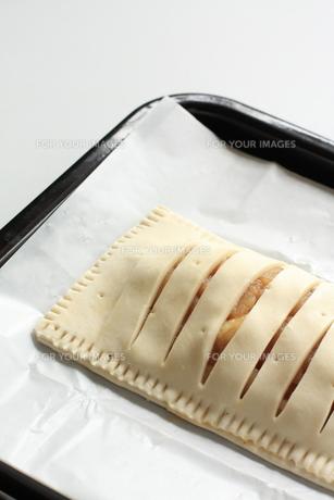 アップルパイの焼く前の写真素材 [FYI00027348]