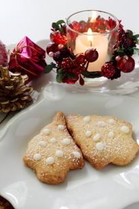 クリスマスクッキーの写真素材 [FYI00027628]