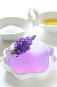 ラベンダーのアロマ石鹸の素材 [FYI00027912]