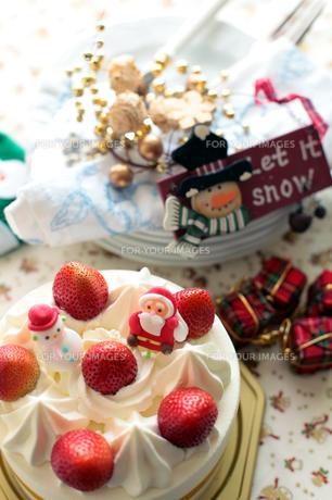 クリスマスケーキの写真素材 [FYI00027940]