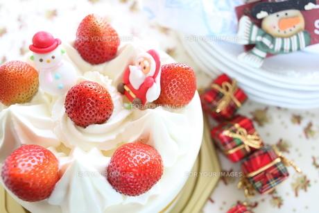 クリスマスケーキの写真素材 [FYI00027947]