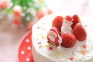 クリスマスケーキの写真素材 [FYI00027957]
