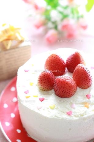 誕生日ケーキの写真素材 [FYI00027965]