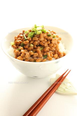 納豆ご飯の写真素材 [FYI00028027]