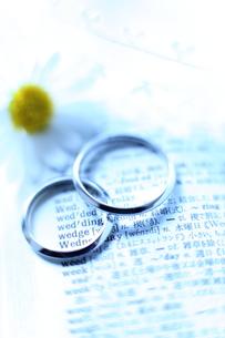結婚指輪の写真素材 [FYI00028189]