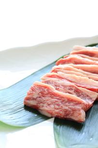 国産カルビ肉の写真素材 [FYI00028195]