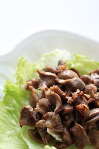 砂肝とにんにくの中華炒めの写真素材 [FYI00028266]