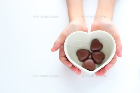 ハートチョコレートの素材 [FYI00028296]