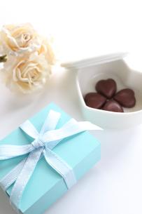 ハートチョコレートの写真素材 [FYI00028303]