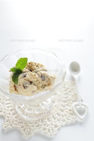 チョコチップクッキーのアイスクリームの素材 [FYI00028508]